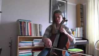 JS Bach Prelude from Cello Suite no 2 in d minor