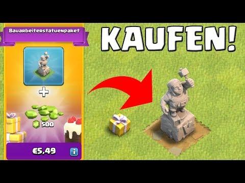 BAUARBEITER STATUE KAUFEN! || Clash of Clans || LP CoC [Deutsch German]