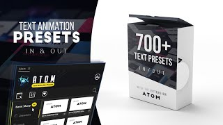 Atom - Text Animation Presets for After Effects