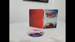 Need For Speed Payback Steelbook Edition Ps4 unboxing
