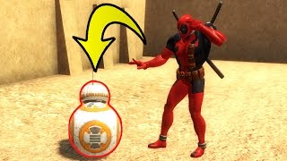 DEADPOOL USING JEDI MIND TRICKS! | Gmod Sandbox Funny Moments (Garry's Mod)
