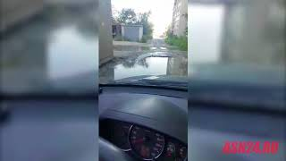Разбитая дорога в микрорайоне Благовещенска
