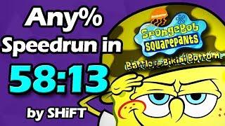 (World Record) SpongeBob SquarePants: Battle for Bikini Bottom Any% Speedrun in 58:13