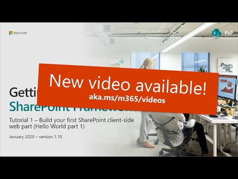 SharePoint Framework Tutorial 1 - HelloWorld WebPart