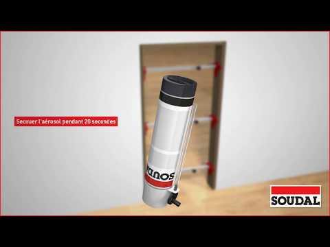 Installer une porte intérieure avec une mousse PU 2K manuelle
