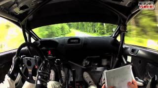 Inboard: Frank Tore Larsen Ford Fiesta WRC - Sørlandssprinten SS4 2013