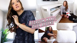 bedroom makeover begins + new furniture haul!! by Alisha Marie Vlogs