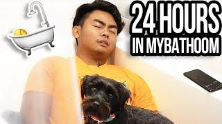 24 HOUR OVERNIGHT CHALLENGE IN BATHROOM!