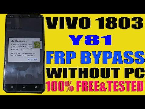 FRP Reset Vivo Y81 / Vivo1803 FRP Unlock|| Simple Trick - AL-Ameen