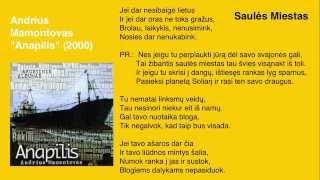 """Video thumbnail of """"Andrius Mamontovas - Saulės Miestas"""""""