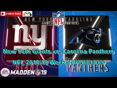 New York Giants vs. Carolina Panthers   NFL 2018-19 Week 5   Predictions Madden NFL 19