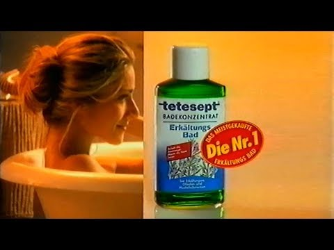 Tetesept Erkältungsbad Werbung 1997