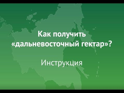 Дальневосточный гектар: инструкция по оформлению заявки