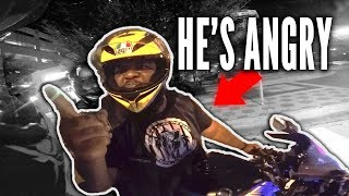 ANGRY BIKER RAGES @ ME! Truck vs HOMELESS MAN?! Motorcycle vs Bad Drivers outruns STORM! RPSTV
