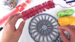 Crochet Hairpin Lace Dreamcatcher