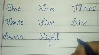 Write Cursive 1-10 Number Names for Beginners - Cursive Handwriting Practice