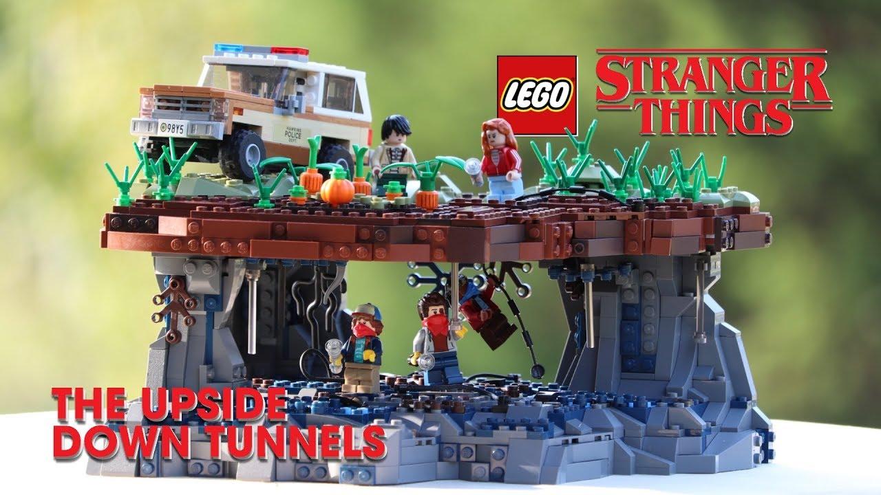 LEGO Upside Down Tunnels Scene (Dig Dug) From STRANGER THINGS! // Custom LEGO MOC