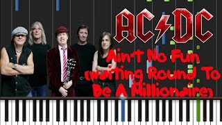 AC/DC - Ain't No Fun (Waiting 'Round To Be A Millionaire) Synthesia Tutorial