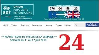 Revue de Presse UPR semaine n°24