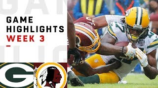 Packers vs. Redskins Week 3 Highlights | NFL 2018