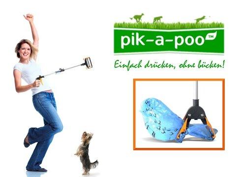 Pooper Scooper/ pik-a-poo ™ -  Der beste Hundekotgreifer/ Hundekotzange/ Hundekotschaufel (GERMAN)