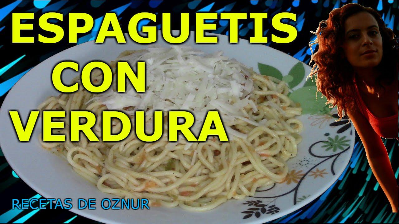ESPAGUETIS CON VERDURAS | recetas de cocina faciles rapidas y economicas de hacer - comidas ricas