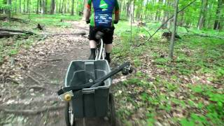 Video focusing on Lakeshore Park trail features - log piles, skinnies, jumps