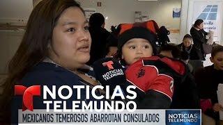 Desbordados los consulados de México en EEUU | Noticiero | Noticias Telemundo