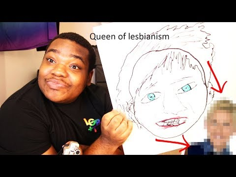 ASMR: Drawing our lesbian queen FROM MEMORY