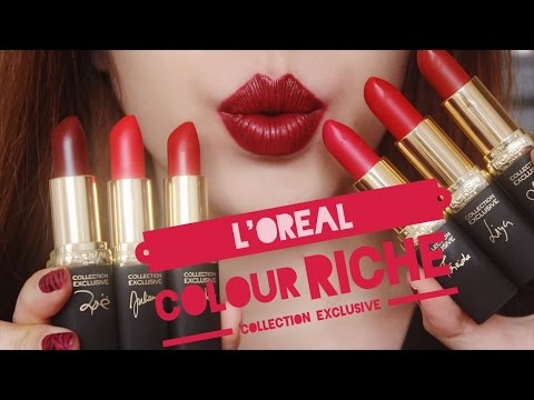 [SWATCH + REVIEW] L'OREAL COLOUR RICHE COLLECTION EXCLUSIVE (WITH CC ENGSUB)