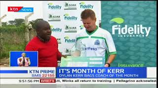 Gor Mahia coach Dylan Kerr voted coach of the month