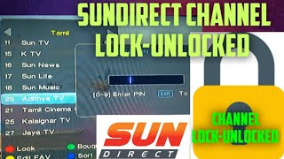 Sundirect Dth Channel Lock/Unlock | how to sundirect channel lock