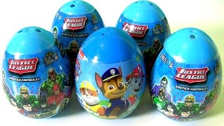 PAW PATROL EGG SURPRISE | JUSTICE LEAGUE Aquaman Flash Wonder Woman TOYS SURPRISES by TOYS CLUB