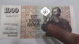 Iceland 1000 Kronur Banknote
