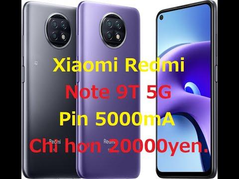 Xiaomi Redmi Note 9T 5G 6.53inh Q/tế Ram 4G / Bộ Nhớ 64G / 1 Sim / Màu Back và Purple / Mới 100% chưa bóc hộp / MS :