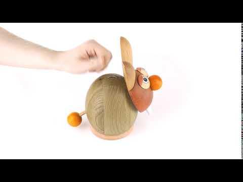 Janoschik Spardose - Hase Natur Orange