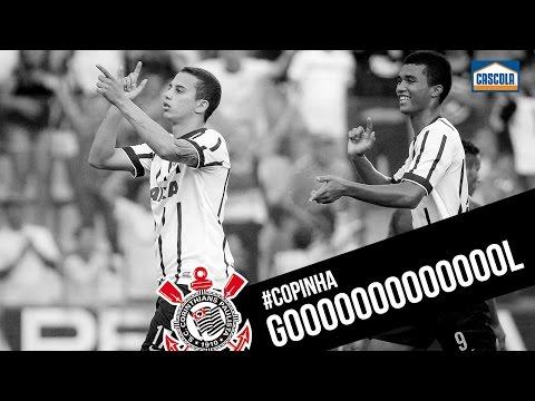 Gabriel Vasconcelos marca o terceiro gol  do Corinthians e comemora igual ao Cristian