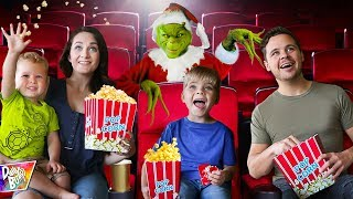 THE GRINCH Surprised Us with a PRIVATE MOVIE THEATER PARTY!