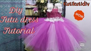 How To Make Tutu Dress For Flower Girl,birthdays And Any Special Occasions || Diy