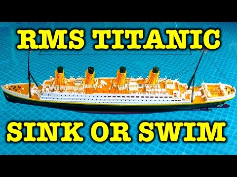 RMS Titanic 32″ Remote Control Realistic Sinking Action Unboxing Review & Battle Boats