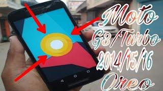 Moto G3/G 2015 turbo Android Oreo custom ROM.