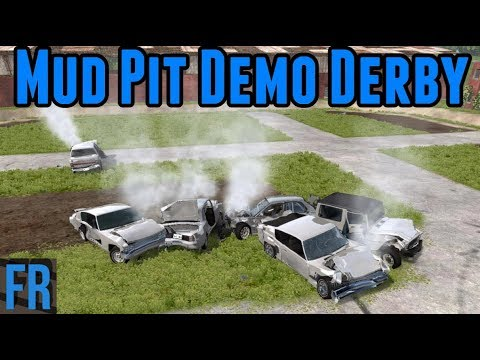 BeamNG Drive - Mud Pit Demo Derby