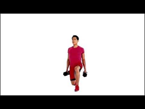 Alternating Dumbbell Lunge Exercise