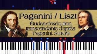 Paganini / Liszt - Études d'exécution transcendante d'après Paganini, S.140/3 | Piano Tutorial
