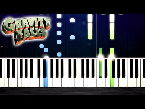 Gravity Falls Theme - Piano Tutorial by PlutaX