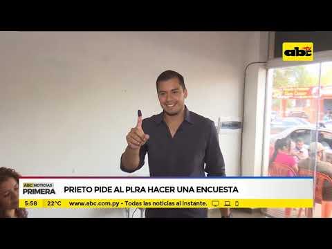 Prieto pide al PLRA hacer una encuesta