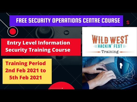 Free Security Operations Center Core Skills | Wild West Hacking ...