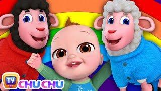 *New* Baa Baa Black Sheep Song - Colors of the Rainbow - ChuChu TV Nursery Rhymes