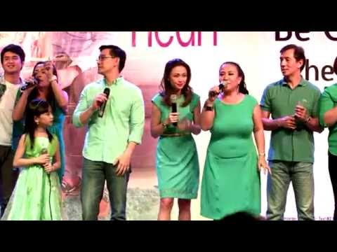 """Be Careful With My Heart Casts sing """"Kapit Bisig"""" at Finale Mall Show"""