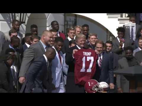 President Trump Hosts the 2017 NCAA Football National Champions the Alabama Crimson Tide